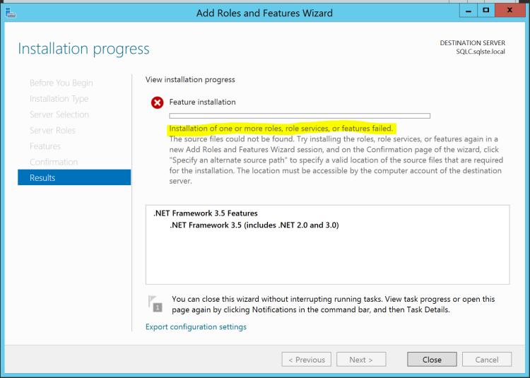 window9 failed install