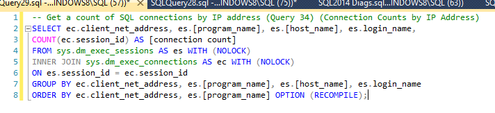connections-tsql-code